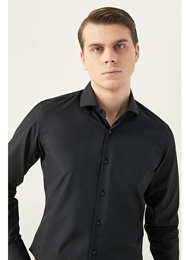 D'S Damat Slim Fit Gömlek Siyah